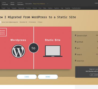 Retour d'expérience d'une migration de WordPress vers un site statique