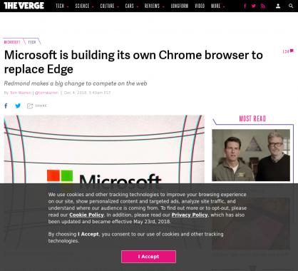 Microsoft va remplacer son navigateur Edge par un nouveau navigateur basé sur Chromium