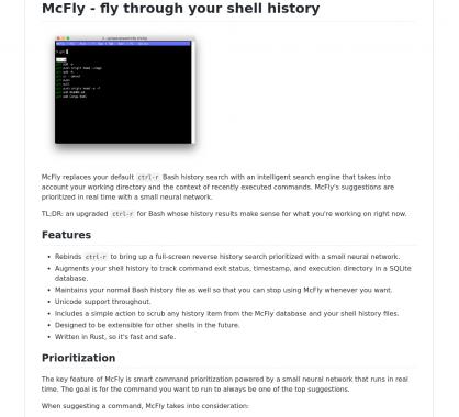 McFly: Naviguez efficacement dans votre historique bash en alternative à CTRL+R