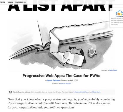 Progressive Web Apps : Votre site web a t-il besoin d'une PWA ?