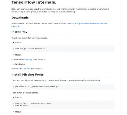 TensorFlow Internals : un ebook dédié au kernel de TensorFlow et des mécanismes d'implémentation