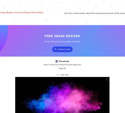 Un outil en ligne pour redimensionner des images dans les dimensions des réseaux sociaux