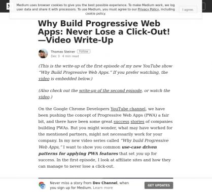 Pourquoi construire une Progressive Web App ? Une série de vidéo dédiée aux PWA par Google