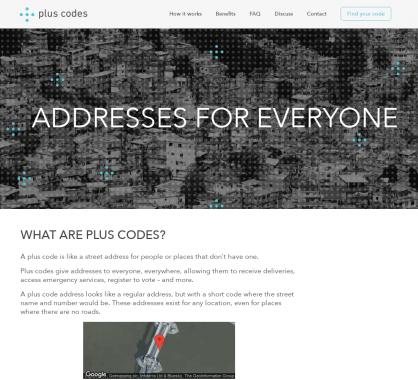Plus codes: Des codes de géolocalisation pour identifier les lieux sans adresses