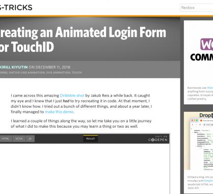 Créer une belle animation de login en reconnaissance d'empreinte digitale en CSS / JS