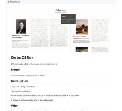 Debucsser: un outil pour debugger rapidement du CSS au hover sur du DOM