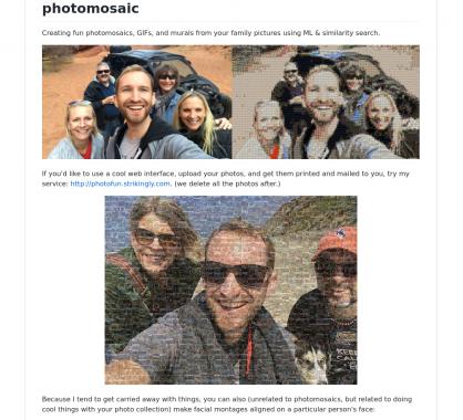 Photomosaic : Créez des mosaïques et GIFs à partir de photos combiné à du ML