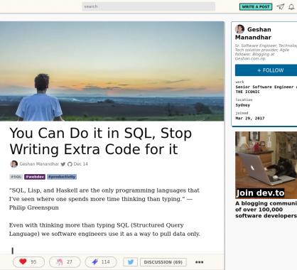 Vous pouvez le faire directement en SQL sans code supplémentaire