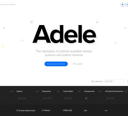 Adele : un répertoire des frameworks et styleguide utilisés par les grands services du web
