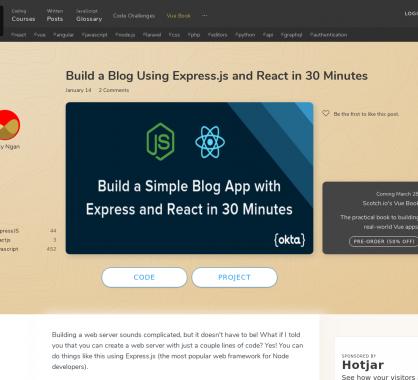 Créer un blog avec React et Express.js en 30 minutes