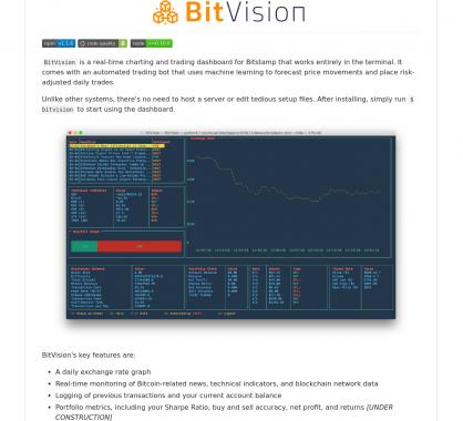 BitVision: Faites du trading de crypto directement dans votre terminal