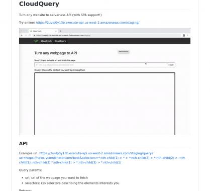 CloudQuery: Transformez n'importe quel site web en API servless
