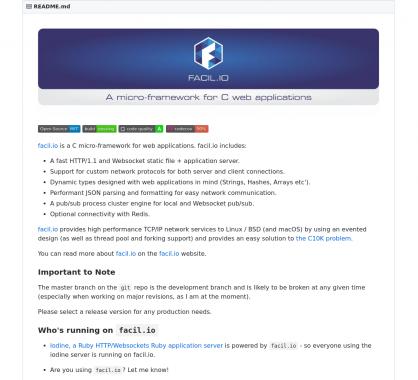 Facil IO: un micro-framework web en C