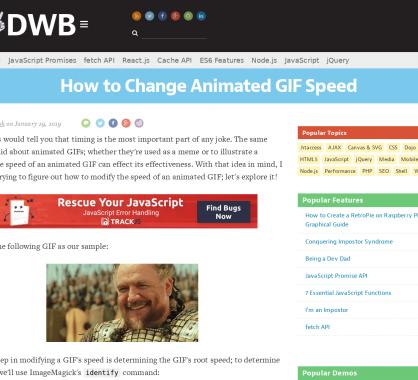 Changer facilement la vitesse d'un GIF animé