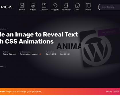 Animez en CSS une image pour faire découvrir un texte