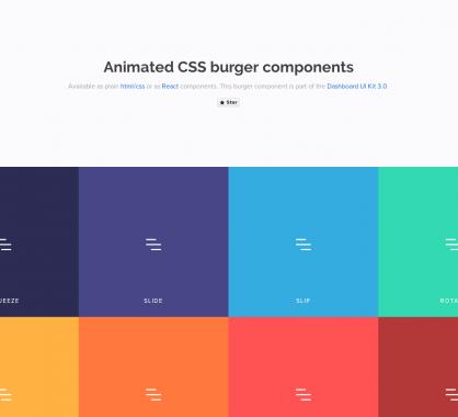 Des menus hamburgers animés en CSS