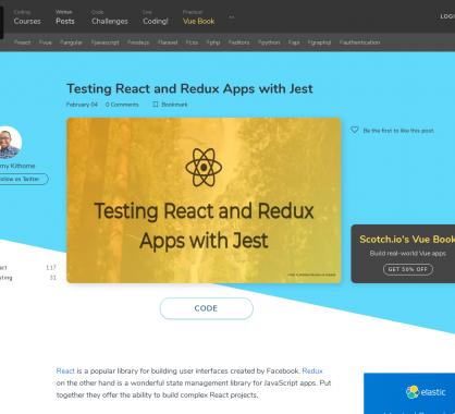 Tester vos apps React et Redux avec Jest