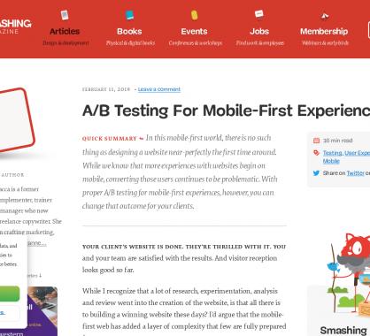 Guide A/B Testing pour des expériences Mobiles-First