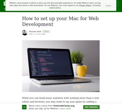 Comment setup un Mac pour du développement web