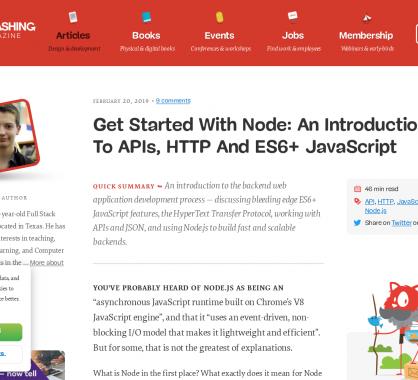 Démarrer le dev avec Node.js : une intro aux APIs, HTTP et ES6+ JavaScript