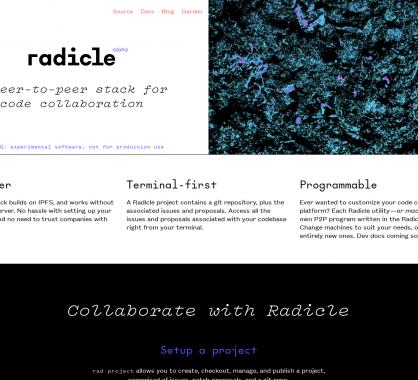 Radicle: une suite d'outils pour de la collaboration de code en P2P