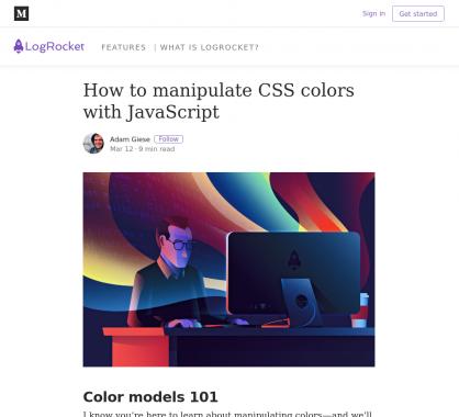 Comment manipuler les couleurs CSS avec du Javascript