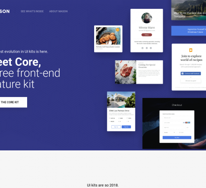 Mason Core: un kit frontend de composants React ou HTML