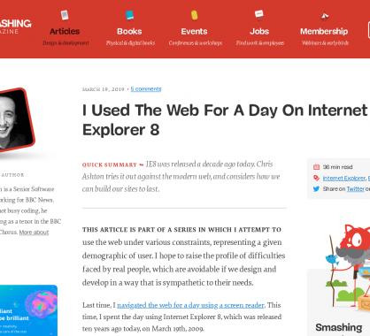 J'ai utilisé Internet Explorer 8 durant toute une journée