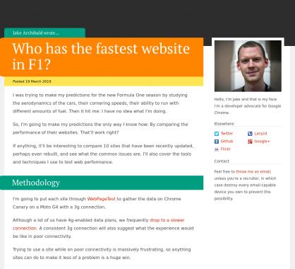 Qui a le site web de Formule 1 le plus rapide ?