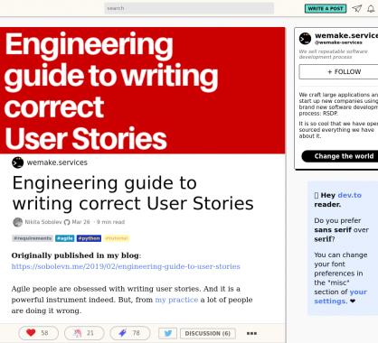 Un guide pour écrire correctement des User Stories