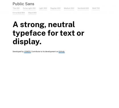 Public Sans : une font open source pour le web et le display