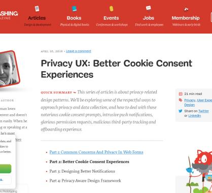 Privacy UX : de meilleures expériences pour les cookies consent