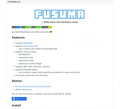 Fusuma : créer des slides de présentations simples avec du Markdown
