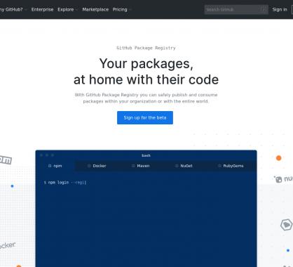 Github lance son service de package registry pour publier vos packages internes ou publics