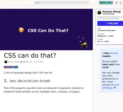 Le CSS peut faire ça ? Des exemples de snippets CSS avec des effets et astuces
