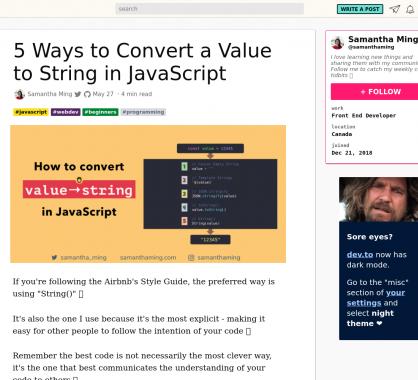 5 façons de convertir des valeurs en string en Javascript