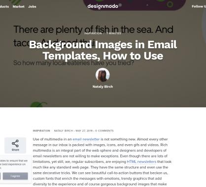 Images de fond dans les emails HTML