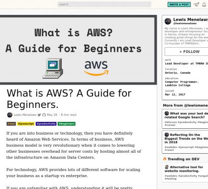 Les Amazon Web Services (AWS) pour les débutants