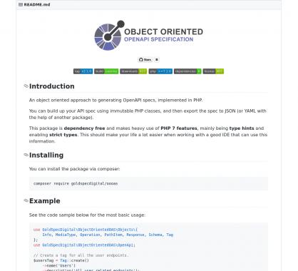 Générez votre spec OpenAPI en PHP en mode orienté objet