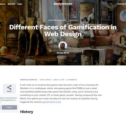 Les différentes faces de gamification dans le webdesign