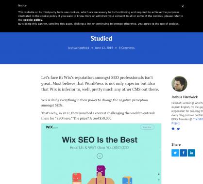 Une analyse SEO de nombreux sites WordPress vs Wix