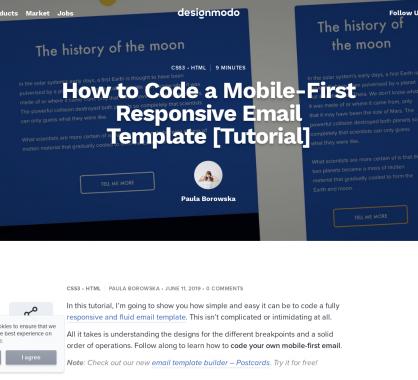 Comment développer un template d'email HTML en mobile first
