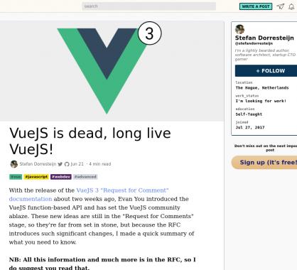 De gros changements à venir pour Vue.js avec la version 3 ?