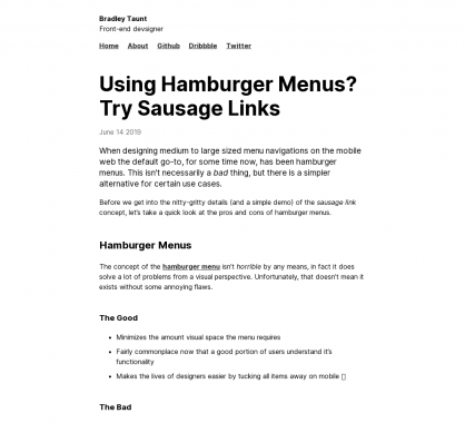 Alternative aux menus hamburgers ? les menus saucisses