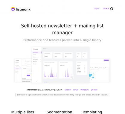 Listmonk : une plateforme de gestion de newsletters open source en Go + React