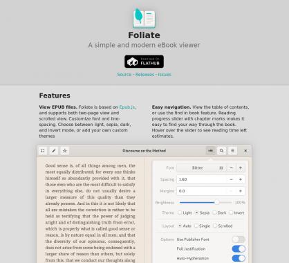 Foliate : un lecteur d'ebook EPUB simple et moderne