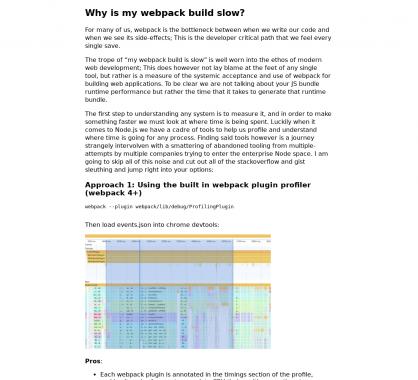 Pourquoi mon build Webpack est-il aussi lent ?
