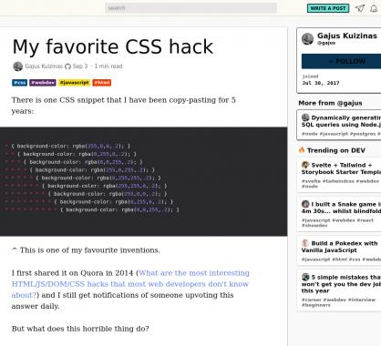 Un petit hack CSS permettant de mieux debug vos paddings et width