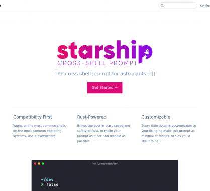 Starship: un shell moderne et personnalisable développé en Rust