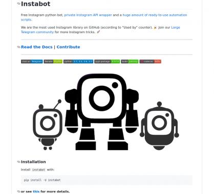 Instabot: un bot Python pour liker et suivre en automatique certains comptes Instagram